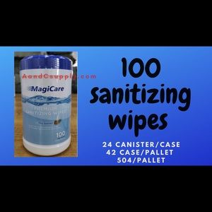 100 count sanitizing hand office cleaning wipes
